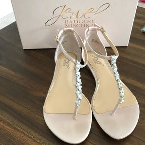 Champagne Jewel Badgley Mischka Sandals